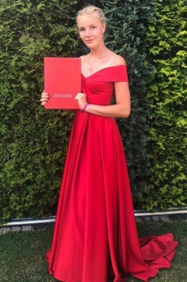 Red Long Prom Dresses | Simple Prom Dress Cheap