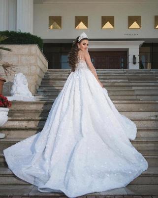 Luxus Brautkleider Mit Ärmel | Prinzessin Hochzeitskleider Glitzer_2