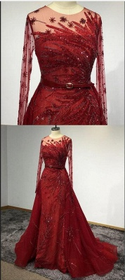 Designer Evening Dresses Long Red | Prom dresses with glitter_5