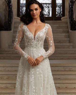 Boho Hochzeitskleider mit Ärmel | Brautkleider Spitze_2
