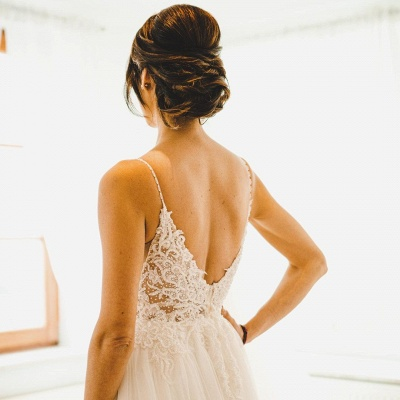 Designer Brautkleider A Linie | Hochzeitskleider Tüll Spitze_4
