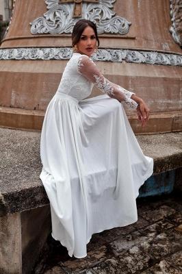 Schlichtes Brautkleider Mit Ärmel | Hochzeitskleider mit Spitze_2