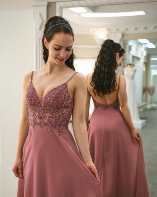 Simple Pink Prom Dresses   Cheap Evening Gowns_3