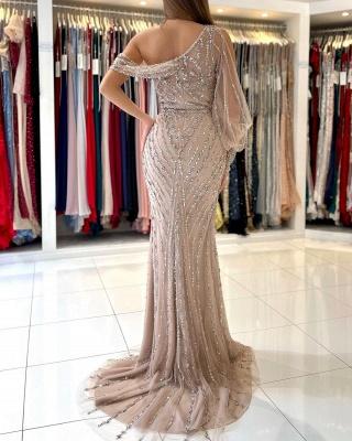 Luxus Abendkleider Lang Glitzer | Abiballkleider mit Ärmel_3