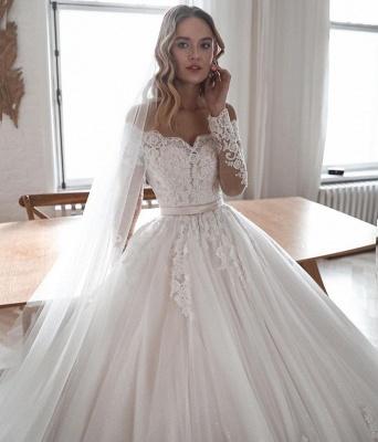 Designer Brautkleider Mit Ärmel | Hochzeitskleider A Linie Spitze_3