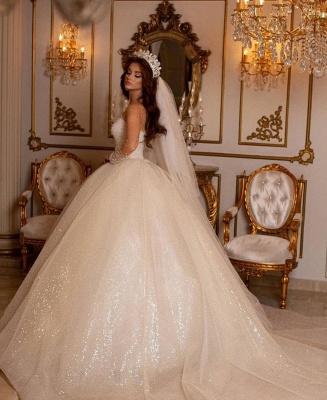 Prinzessin Hochzeitskleider Glitzer | Brautkleider Mit Ärmel_3