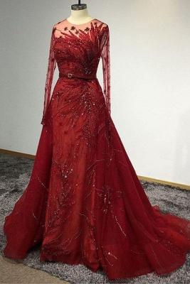 Designer Evening Dresses Long Red | Prom dresses with glitter_4