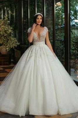 Luxus Brautkleider A Linie | Hochzeitskleider mit Glitzer
