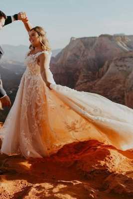 Elegant Wedding Dresses A Line Lace | Wedding dresses cheap