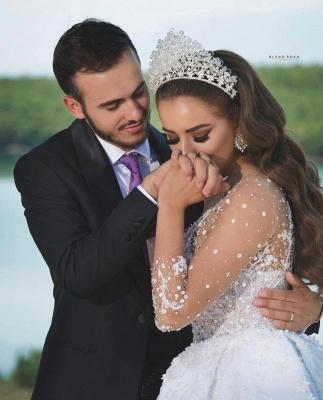 Luxus Brautkleider Mit Ärmel | Prinzessin Hochzeitskleider Glitzer_5