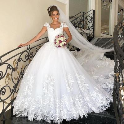 Designer Brautkleider A Linie Spitze | Hochzeitskleider Günstig_3