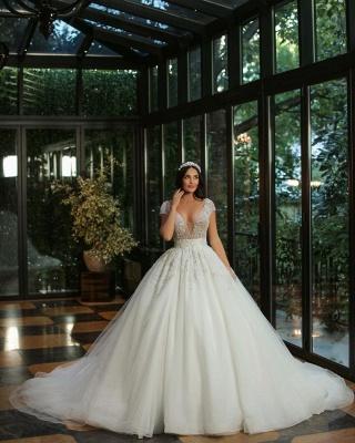 Luxus Brautkleider A Linie | Hochzeitskleider mit Glitzer_2