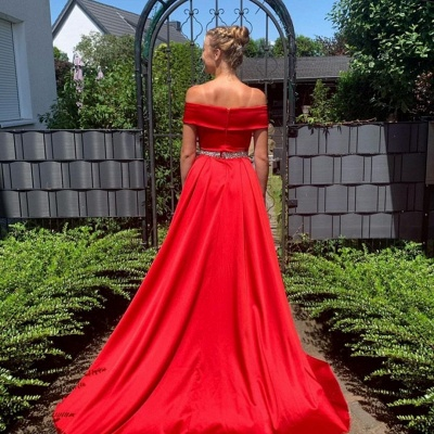 Red Long Prom Dresses | Simple Prom Dress Cheap_2