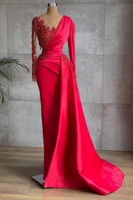 Rote Abiballkleider Lang Günstig | Abendkleider mit Ärmel