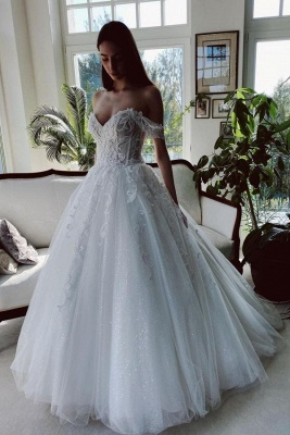 Designer wedding dresses with glitter | A line wedding dresses lace