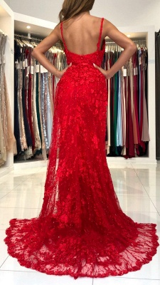 Wonderful evening dresses long red | Lace prom dresses cheap_3