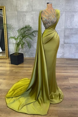 Green Prom Dresses Cheap | Evening dresses long glitter