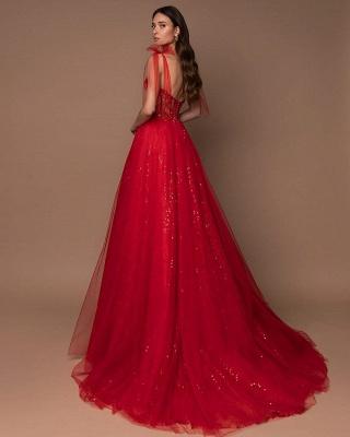 Rote Abiballkleider Günstig | Abendkleider Lang Glitzer_2