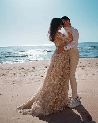 Designer Brautkleider Mit Ärmel | Hochzeitskleider Spitze_3