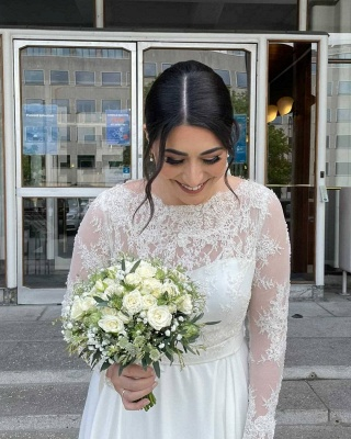 Simple wedding dresses with lace | Wedding dresses with sleeves_6