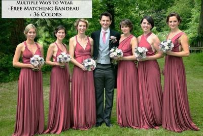 Wandelbare Brautjungfernkleider Weinrot   Kleider Für Brautjungfern_2