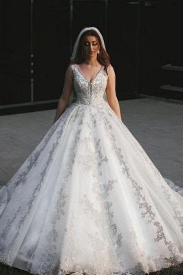 Designer Brautkleider A Linie | Spitze Hochzeitskleider Glitzer