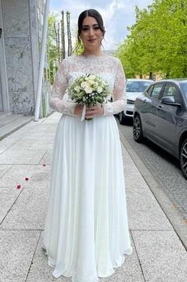 Schlichte Brautkleider Mit Spitze | Hochzeitskleider mit Ärmel