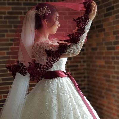 Elegante Hochzeitskleider Prinzessin | Brautkleider Lange Ärmel_4