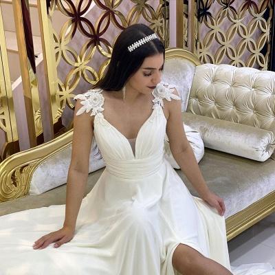 Schlichtes Hochzeitskleid Günstig   Brautkleider Mit Spitze_4