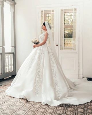 Brautkleider A Linie Spitze | Satin Hochzeitskleider Online_3