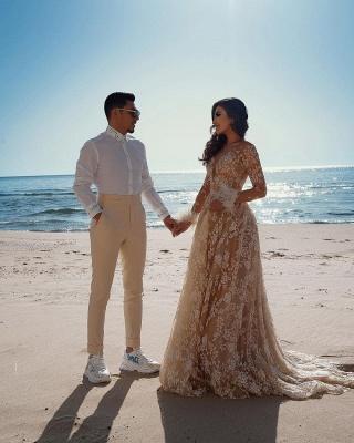 Designer Brautkleider Mit Ärmel | Hochzeitskleider Spitze_4