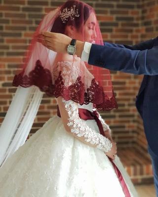Elegante Hochzeitskleider Prinzessin | Brautkleider Lange Ärmel_5