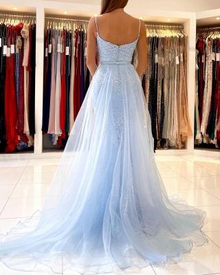 Blue Evening Dresses Long Lace | Prom Dresses Cheap Online_3