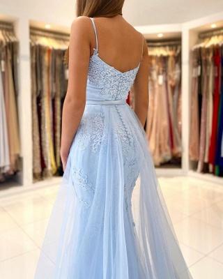 Blue Evening Dresses Long Lace | Prom Dresses Cheap Online_2