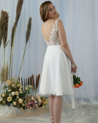 Simple wedding dress with lace | Wedding dresses short_2