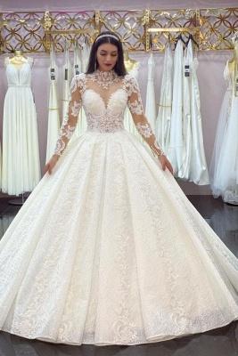 Elegante Brautkleider A Linie Spitze | Hochzeitskleider mit Ärmel
