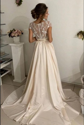 Simple wedding dresses with lace | Wedding dresses cheap_2