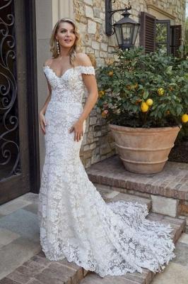 Designer Brautkleid Meerjungfrau Spitze | Hochzeitskleider Weiß