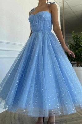 Blaues Cocktailkleid Kurz   Abendkleider Glitzer_1