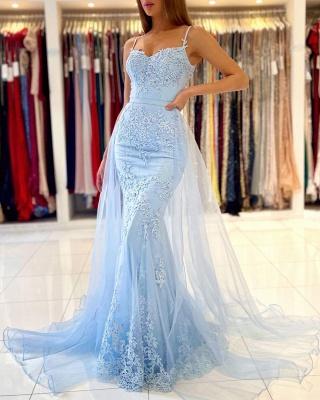 Blue Evening Dresses Long Lace | Prom Dresses Cheap Online_5