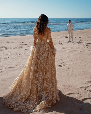 Designer Brautkleider Mit Ärmel | Hochzeitskleider Spitze_2