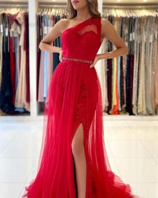 Rote Abendkleider Lang Günstig | Abiballkleider Spitze_4