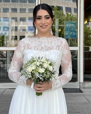 Simple wedding dresses with lace | Wedding dresses with sleeves_7