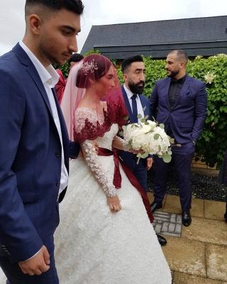 Elegante Hochzeitskleider Prinzessin | Brautkleider Lange Ärmel_8