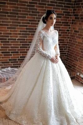 Elegante Hochzeitskleider Prinzessin | Brautkleider Lange Ärmel
