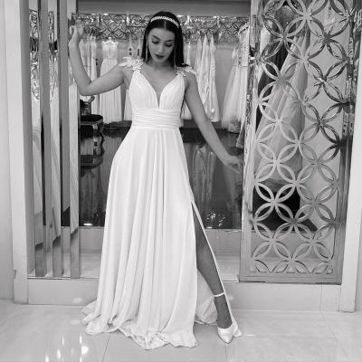 Schlichtes Hochzeitskleid Günstig   Brautkleider Mit Spitze_3