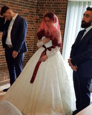 Elegante Hochzeitskleider Prinzessin | Brautkleider Lange Ärmel_7