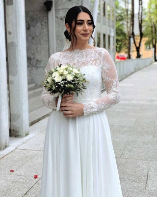 Simple wedding dresses with lace | Wedding dresses with sleeves_3
