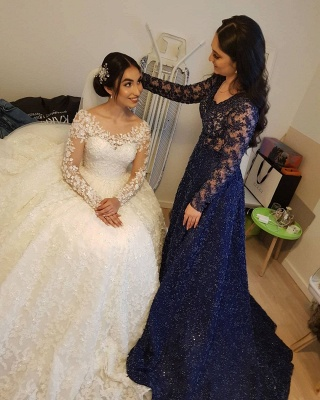 Elegante Hochzeitskleider Prinzessin | Brautkleider Lange Ärmel_10