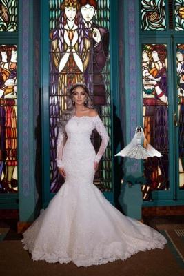 Brautkleider Meerjungfrau Mit Ärmel | Glitzer Hochzeitskleider mit Spitze_3